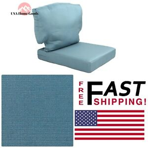 Blue Outdoor Chair Cushion Replacement 21 1 2 X 30 X 5 7 8