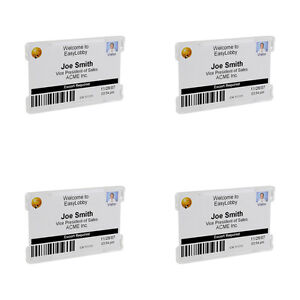 GBC BadgeMates Convertible ID Card Holders Clear 4 Packs 25//Pack