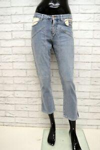 Jeans-JECKERSON-BLUE-Donna-Taglia-30-Pantalone-Woman-Slim-Fit-Elastico-Corto