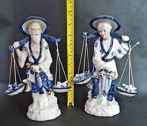 Large-Antique-Porcelain-Chinese-Fish-Merchant-Market-Seller-Oriental-Figurines