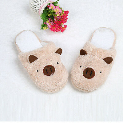 Men Women Slippers Pig Cute Cotton Fabric Home Slippers Winter Indoor Slippers