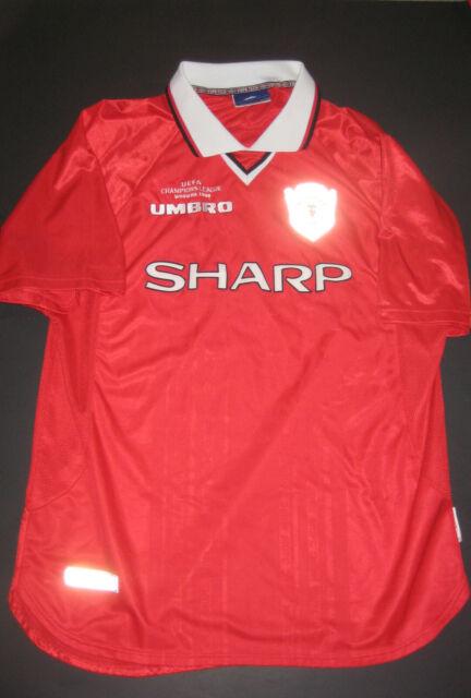 big sale 71609 7163d 1999 Umbro Manchester United Home Champions League Jersey Shirt Kit England