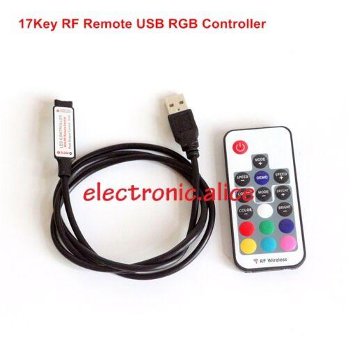 3//17//24//44 Key USB Remote Controller For 5V-24V 5050 RGB LED Strip Light TV Back
