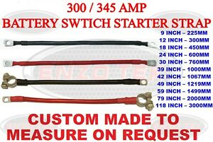 BATTERY LEAD POWER STRAP EARTH BOND LEISURE CABLE LEADS 40mm2 50mm2 BLACK RED