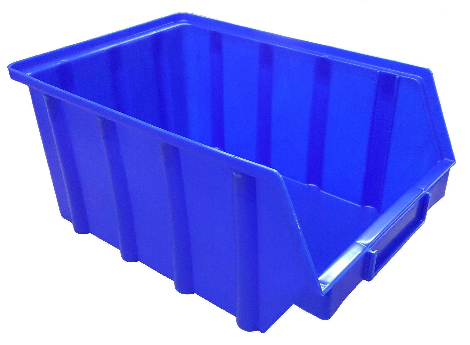 130 Stapelboxen Gr.4 Stapelkisten Kunststoff PP blau Lagerkisten Lagerboxen