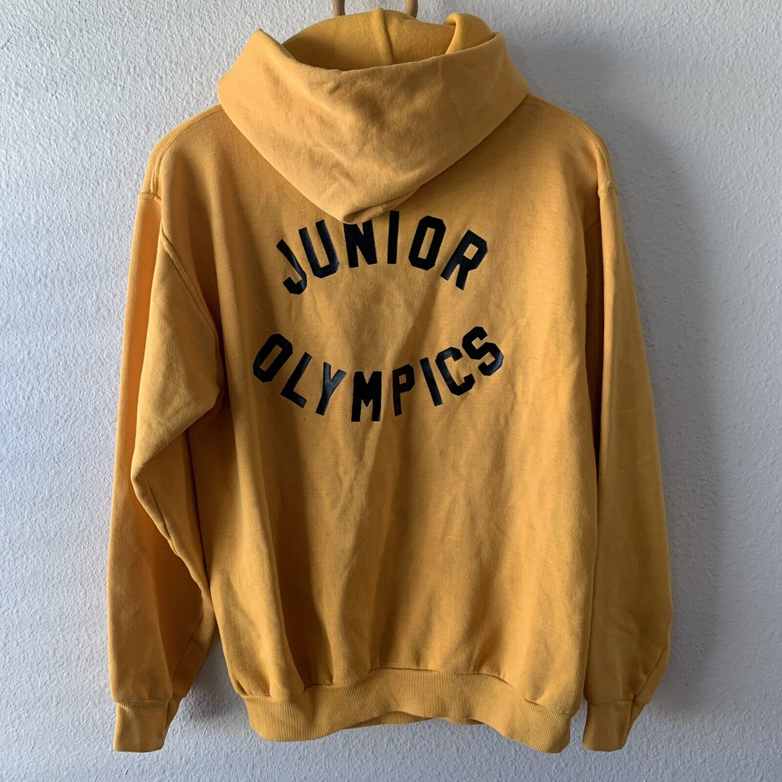 Vintage 70s Hoodie Sweatshirt Junior Olympics Rus… - image 8