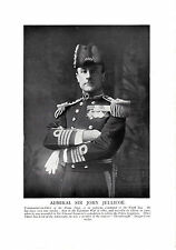 Admiral, Sir John Jellicoe. The Great War. Scarce print  circa 1919