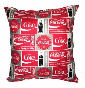 Coca-Cola-Pillow-HANDMADE-Coke-Soda-Thirst-Quenching-Coca-Cola-Drink-Classic-Red