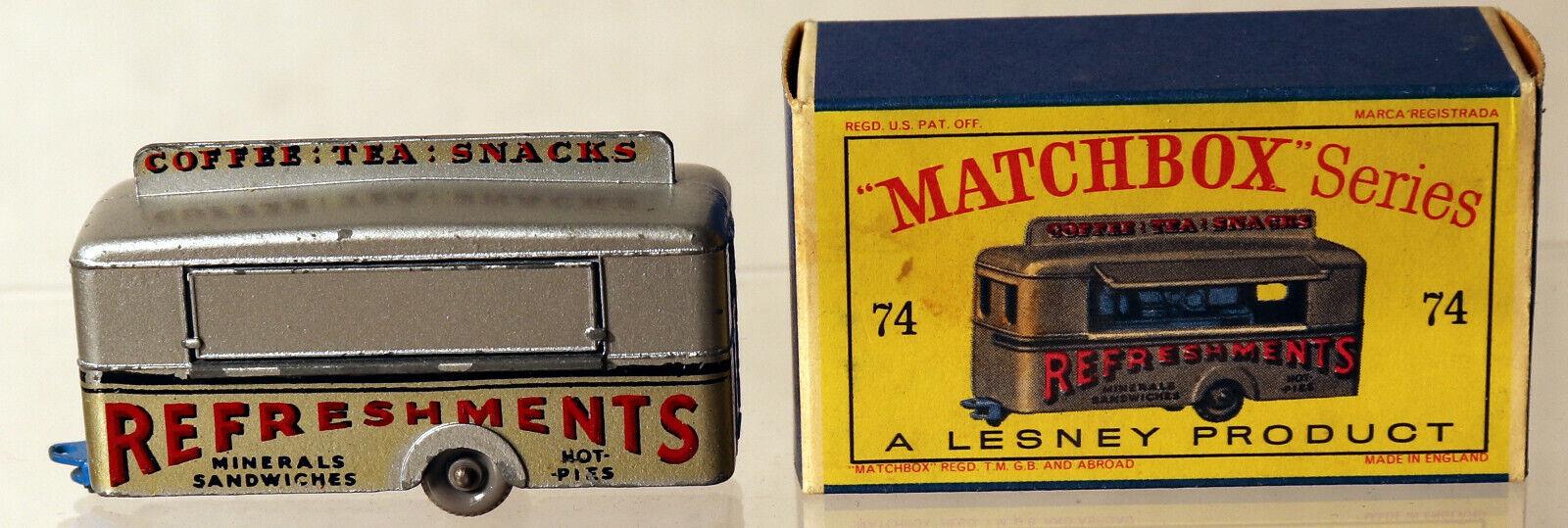 barato y de moda DTE Lesney Matchbox Matchbox Matchbox Ruedas regulares 74-1 Plata móvil refresco FGPW Med Azul  compra en línea hoy