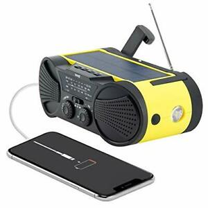 Wayl Buzz4000 Emergency Weather Radio - Portable, Solar Powered, Hand Crank