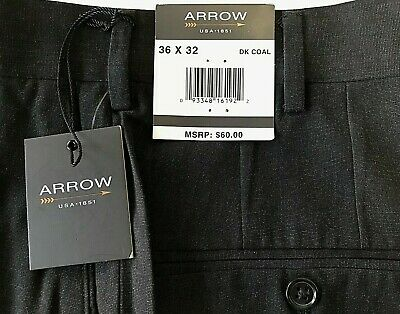 NWT Men/'s Victorio Cuture Charcoal Flat Front Dress Pants Slacks BIG SIZES 44-60