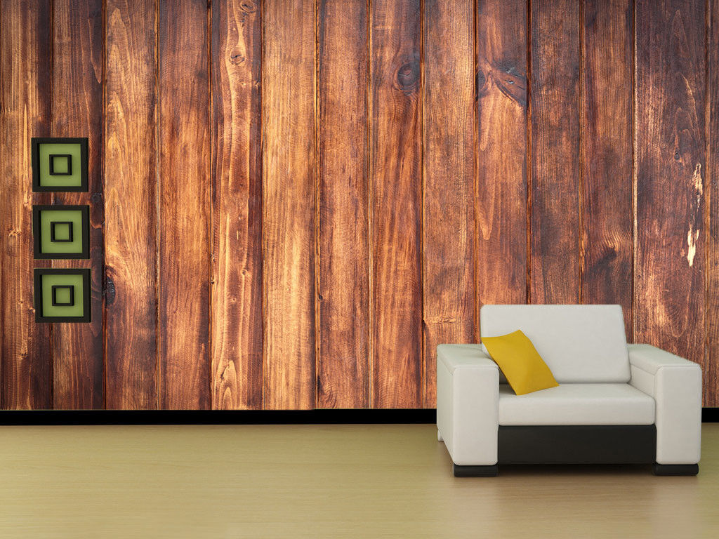 3D Braun Wood Pattern 4 Wall Paper Wall Print Decal Wall Deco Indoor Mural Lemon