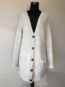 Details zu Marc O'Polo Damen Winter Soft Alpaka,Wolle Strickjacke gr. XL
