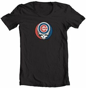0730387719f CHICAGO CUBS STEAL YOUR FACE GRATEFUL DEAD JERRY GARCIA MLB T-SHIRT ...