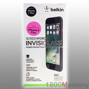 the best attitude aa514 d9912 Details about GENUINE BELKIN Screen Force Invisi Glass Protector Apple  iPhone 8 Plus 7+ 5.5
