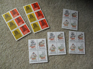 Lot of 6 Vintage Sheets of Charity Stamps Smokey the Bear and Friends