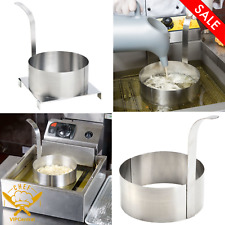 8 Stainless Steel Round Funnel Cake Mold Ring Cake Fryer Commercial Kitchen New