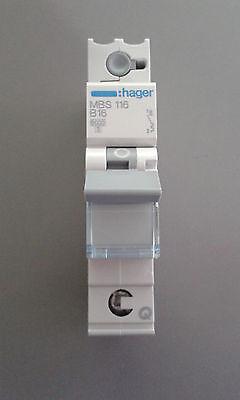 Sicherungsautomat 16A Hager MBS116 LS-Schalter B16 1-polig Quick Connect