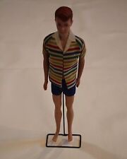 Barbie 1960 Allan Doll Red Molded Hair Ken's Friend Striped Shirt Outfit Japan