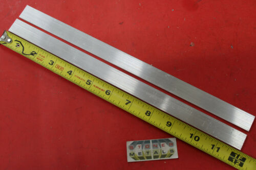 "2 Pieces 1//8/"" X 3//4/"" ALUMINUM FLAT BAR 12/"" long 6061 T6511 New Mill Stock"