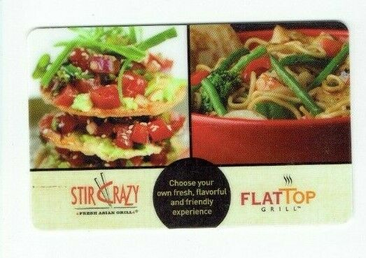 Stir Crazy Gift Card - Flat Top Restaurant - No Value - I Combine Shipping