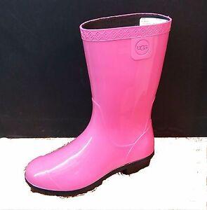 919f1123203 Details about UGG AUSTRALIA WOMENS SIENNA RUBBER WATERPROOF RAIN BOOT DIVA  PINK(DVPN)1014452