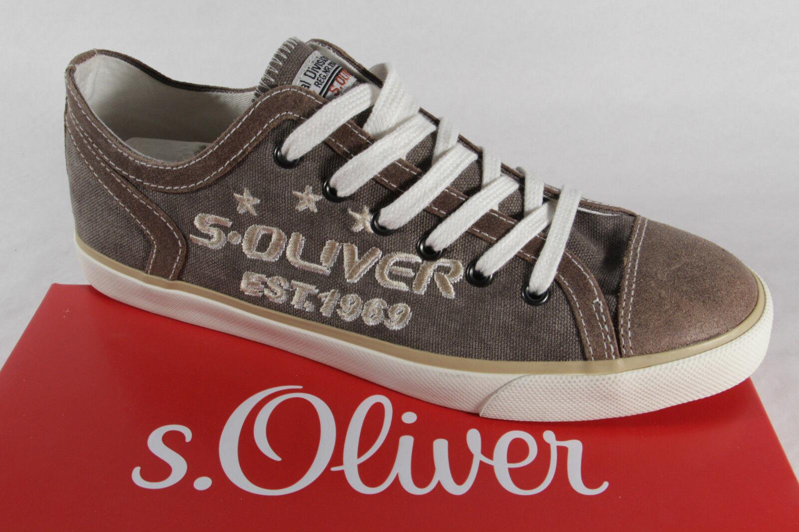 s. Oliver Hombre Zapatos de cordones, beige/marrón, suela de goma, NUEVO