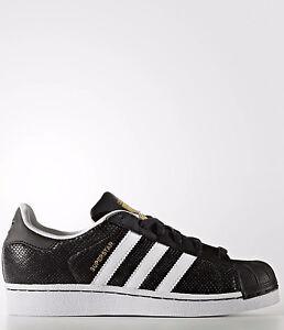 Détails sur Adidas Originals Superstar Reptile Femmes ® (Taille UK: 4 UE 36.5) NoirBlanc afficher le titre d'origine