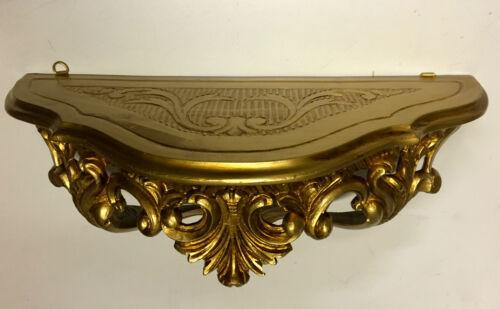 Regal Gold BAROCK Wandboard  38x16x20 ANTIK Wandkonsole Wandspiegelkonsole