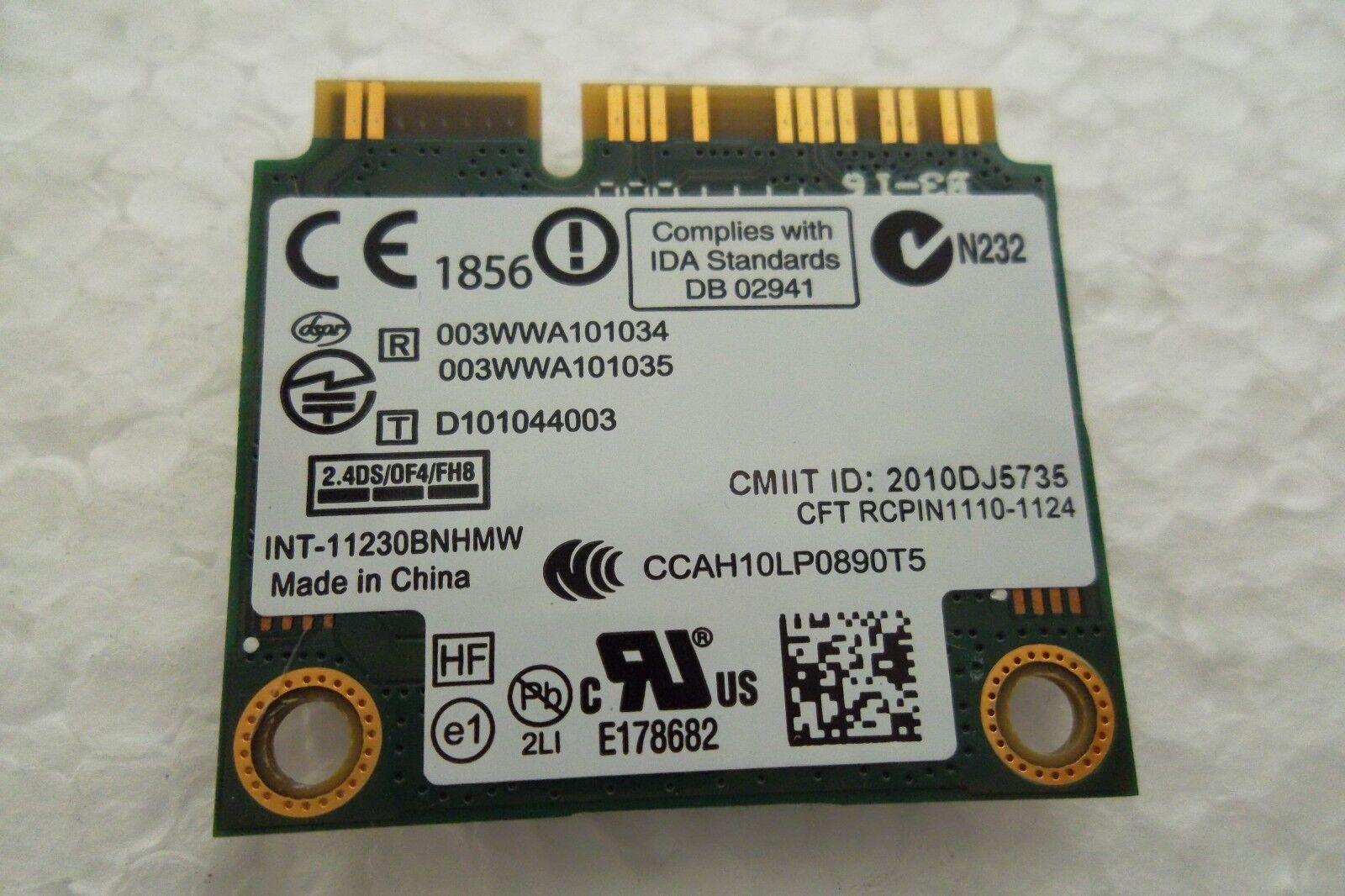 DELL INTEL 1030 WIRELESS N 11230BNHM 7KGX9 300MBPS WIFI BLUETOOTH MINI PCI-E CAR