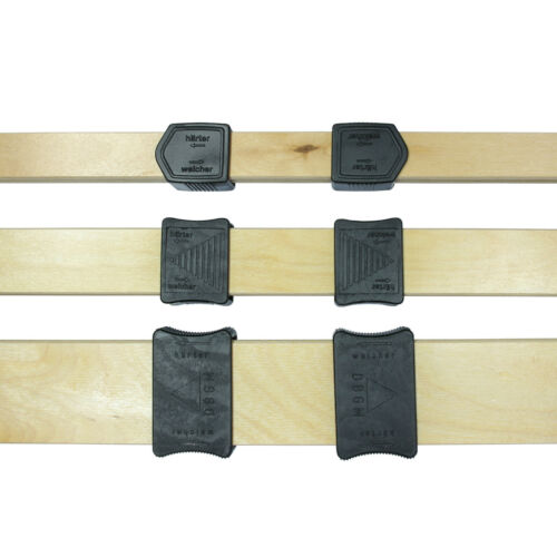 Härteverstellung Komplettset 25mm x 8mm 5 Federholzleisten + 10 Schieber