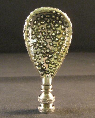 LAMP FINIAL-ANTIQUE SILVER RHINESTONE GLITTERING DROP-SATIN NICKEL BASE