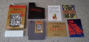 The-Legend-of-Zelda-Nintendo-NES-Game-lot-CIB-Complete-Gray-Grey-Classic-Series