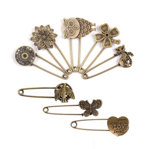 Paquete De 8 Clavijas Vintage Broche Pin Imperdibles