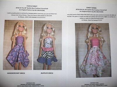 "NG Creations Sewing Pattern Six Fall Fashions fits Vintage 9/"" Skipper Doll"