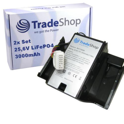 Trade-Shop Premium AKKU 25,6V 3000mAh für Robomow Tuscania TC150 TC300 TC500