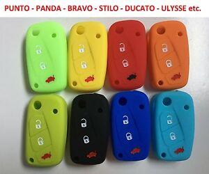 Cover-chiave-guscio-silicone-Fiat-Idea-Punto-Panda-Bravo-Stilo-Ducato-Doblo-etc