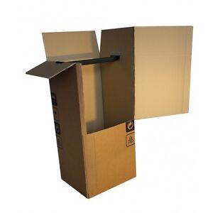 3 pezzi scatole armadio per abiti traslochi 50x50x120cm