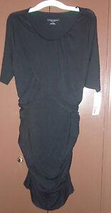 Liz-Lange-Maternity-Womens-Body-Con-Dress-Black-NWT-Size-XS-or-Large