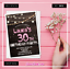 Personalised-Birthday-Invitations-Rustic-Party-Invites-30th-40th-50th-60th-70th thumbnail 9