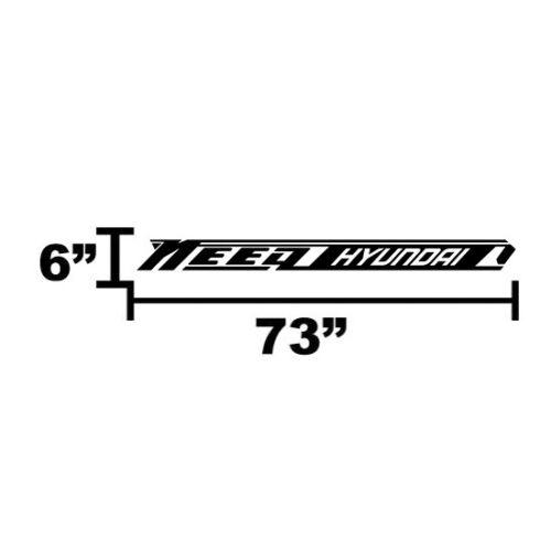 Strip SUV Car Racing Need Vinyl Car Decal Sticker for Kona /& Tucson /& Santa Fe