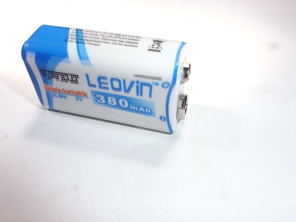1 Batteria 9v Ricaricabile Nimh 380 Mah Fast Delivery Uitstekend In Kusseneffect