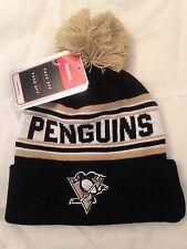 Pittsbrugh Penguins NEW Youth Cuffed Knit Winter Hat w Pom . NHL Hockey Warm Fan