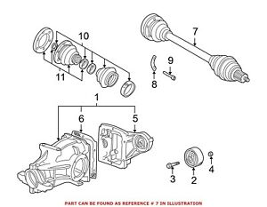 Left or Right Rear GSP NCV27520 CV Axle Shaft Assembly Driver or Passenger Side