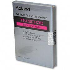 Roland STYLE CARD TN-SC1-02 '50's & 60's' ROM For Roland RA 50, PRO-E, E30, E5