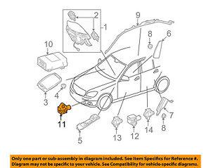 mercedes mercedes benz oem airbag air bag srs front impact sensor rh ebay com
