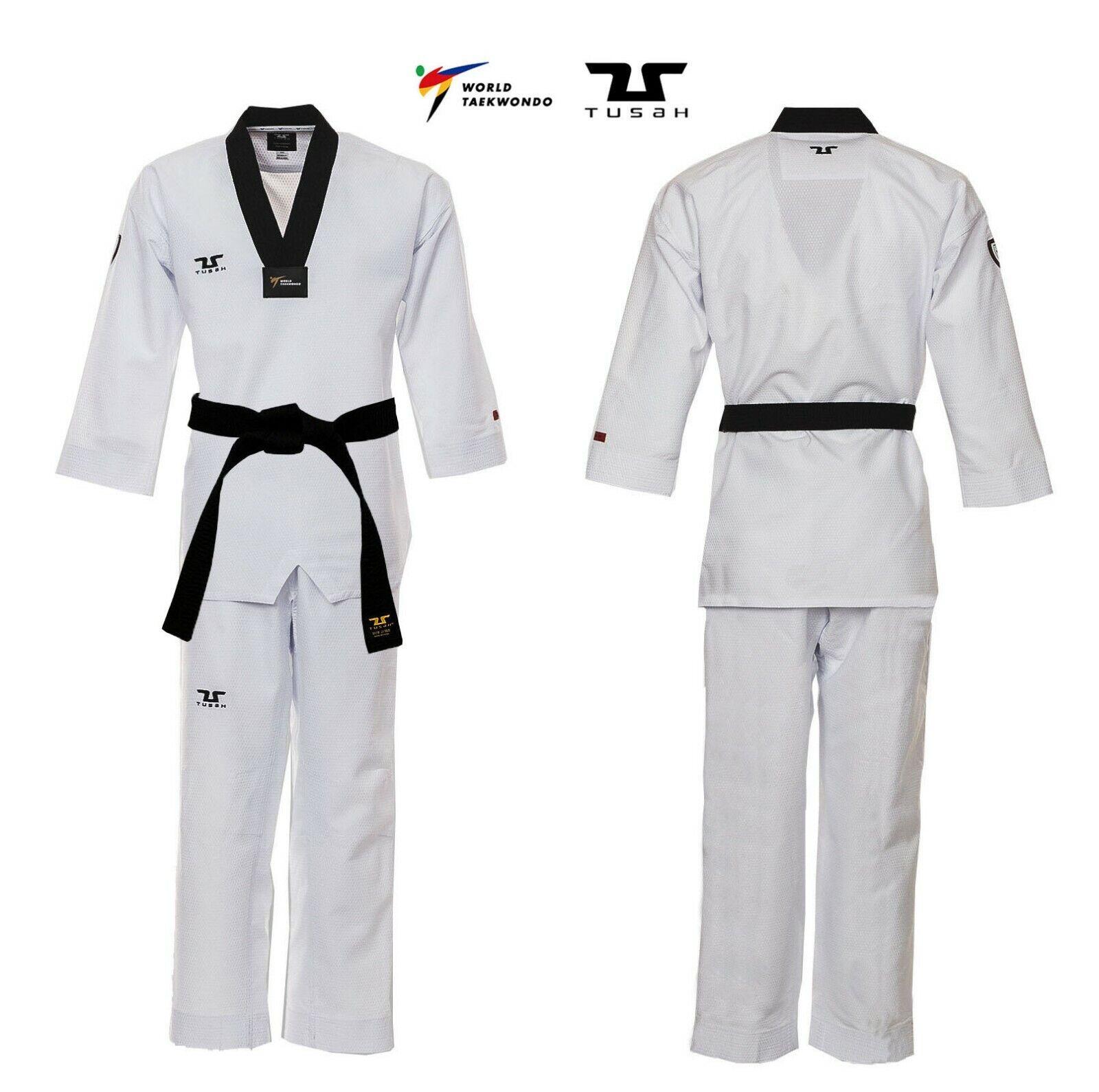 Dobok Professional Fighter Ultraleggero TUSAH uniforme Taekwondo OMOLOGATO WT