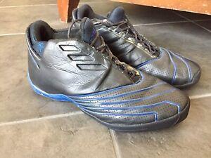 Adidas-Tmac-II-Tracy-Mcgrady-Basketball-Shoes-Sz12-08-2002-Black-Blue-Rare