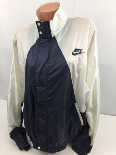 Sz Out Zip Azul Nike Spell Vtg cortaviento L marino para Nylon Blanco Chaqueta hombre Block Color qv816wwxP