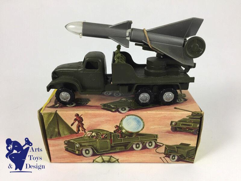 Jouet ancien frankreich jouets dodge militaire lance fusee avec bolte